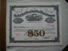 The Belt Rail Road and Stock Yards Company. 1946 Indiana Company Stock Certif.