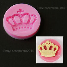 Prince King Queen crown tiara silicone mold for fondant, chocolate, resin, clay