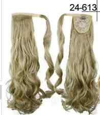 Wrap Around Hair Extension Hairpiece Long Curly Ponytail MORE Colours P011