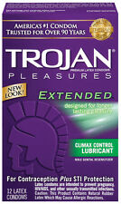 Trojan Pleasures Extended - 12 count - Condoms