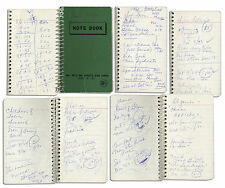 Captain Kangaroo's Notebook Filled With His Hand Notes