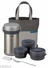 STAINLESS STEEL VACUUM LUNCH BOX Jar Food Container Hot Cold Thermos Insulated