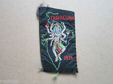 Tawacuna 1976 Woven Cloth Patch Badge Boy Scouts Scouting