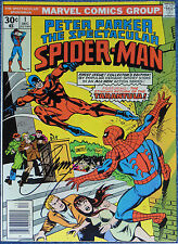 SPECTACULAR SPIDER-MAN #1~PETER PARKER ~MARVEL COMICS~SIGNED GERRY CONWAY~1976