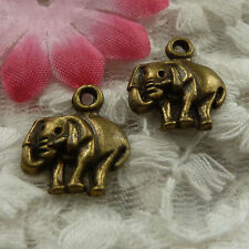 free ship 110 pieces bronze plated elephant charms 16x13mm #4112