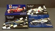 4  X MINICHAMPS 1/43 F1 Cars 2 LIMITED EDITIONS ALL NEW UNDISPLAYED