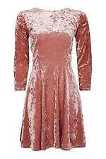 topshop size 10 bnwt pink velvet skater dress