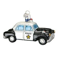 Old World Christmas Police Car Glass Blown Ornament