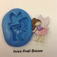 Silicone Mould Fairy 2 Magical Cupcake Topper Party Sculpey Sugarcraft Chocolate
