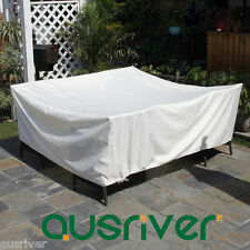 Brand New Ivory Outdoor Furniture Cover Waterproof UV Protection 220*220*70cm