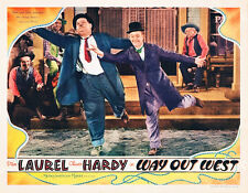 Laurel & Hardy Way Out West Lobby Card Replica Photo Print 14 x 11""