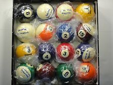 WILLIE MOSCONI SIGNED COMPLETE 16 BALL SET OF BILLIARD BALLS PSA/DNA CERTIFIED