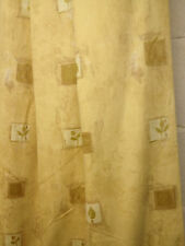 B/N Static Caravan Curtains,fully  lined ,soft gold cotton print,50 w x 72L pair