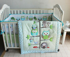 Baby Bedding Crib Cot Quilt Set- NEW 8pcs Quilt Bumper Sheet Dust Ruffle