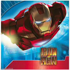 IRON MAN 2 LUNCH NAPKINS (16) ~ Birthday Party Supplies Serviettes Dinner Large