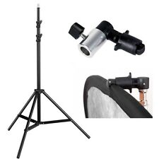 Pro heavy duty 8ft lighting stand Studio Photo tripod clamp 4 reflector backdrop