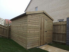 Wooden Sheds, 10x6 Pressure Treated Apex Shed, High Eve Tanalised T&G Shiplap.