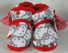 Hello Kitty Slipper Boots Plush Faces VALENTINE GIFT FREE SHIPPING SMALL 5-6