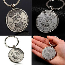 Perpetual Calendar Keychain Metal Keyring 50 Years Car Accessories