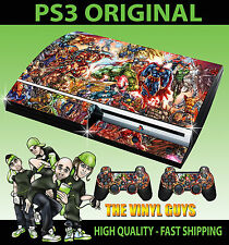 PLAYSTATION 3 CONSOLE STICKER MARVEL DC ACTION HERO SUPERHERO SKIN  & 2 PAD SKIN