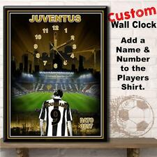 Personalised Juventus Custom Football Large Hanging Wall Clock Gift
