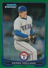 TEXAS RANGERS DEREK HOLLAND 2012 BOWMAN CHROME #60 GREEN REFRACTOR