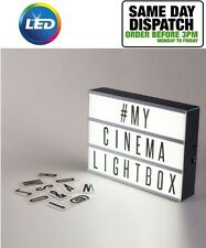 A4 CINEMA LED LIGHT BOX DIY MESSAGE FOR WEDDING PARTY SHOP PLAQUE
