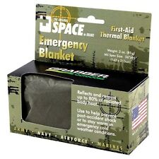 """NEW Grabber Outdoors Space Emergency Thermal Blanket 56""""x96"""" Green 6666EBMR"""