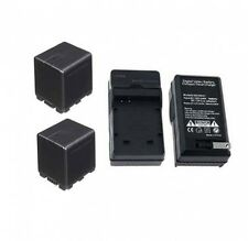 TWO 2 Batteries + Charger for Panasonic HDC-TM80P HDC-TM80PC HDC-SD40 HDC-SD40P