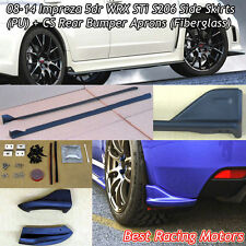S206 Style Side Skirts + Bottom Line Style Rear Aprons Fit 08-14 Impreza 5dr