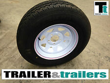 NEW Sunraysia Style Trailer Wheel + NEW LIGHT TRUCK TYRE 175/70 R14 - SINGLE