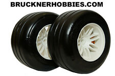 1:5 GRP F1 REAR car tires on white rims (2) GWH66-S5 Soft - FAST DELIVERY!