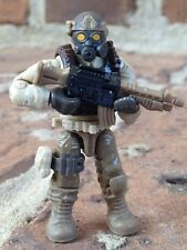 LEGO / MEGA BLOKS Desert Commando Army Soldier Minifigure #4 With Weapons
