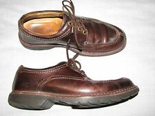 Mens 8 M Johnston & Murphy Brown Leather Trafford Y Moc Oxfords Lace up Office