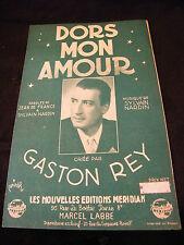 Partition Dors mon amour Gaston Rey