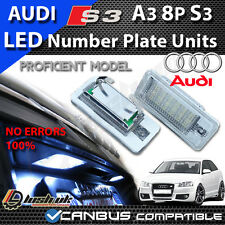 2x NEW AUDI A3 S3 8P & CABRIOLET NUMBER PLATE LED UNITS CANBUS ERROR FREE 18 SMD