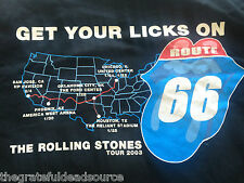 Rolling Stones Shirt Route 66 Concerts January/February 2003 -L Unworn Original