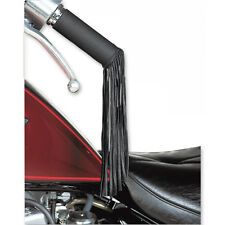 Held Black Moto Motorcycle Motorbike Self-Adhesive Cowhide Handle Bar Tassels