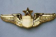 "United States Air Force Senior Pilot Gold Wings 3"" Lapel / Hat Pin Badge USAF"