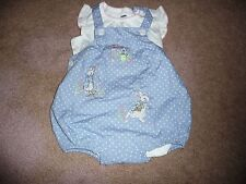 NEW Gymboree girl 6-12 mont Peter Rabbit 2 pc polka dot romper outfit bunny NWT