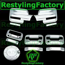 09-14 F150 Chrome Mirror+2 Door Handle+no KYP+PSG KH+Tailgate Camera+GAS Cover