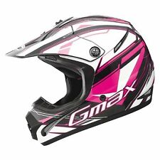 GMAX GM46.2 MX ATV HELMET PINK VENTED TRAXXION YOUTH & ADULT SIZES LIGHT WEIGHT