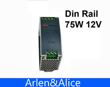 75W 12V 6.3A Din Rail Single Output Switching power supply supplies