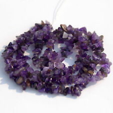 """natural amethyst chips nugget gemstone loose beads strand 34""""jewelery findings"""