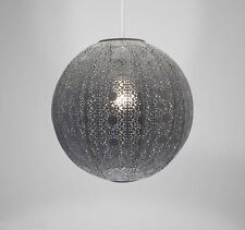 Moroccan Ball Ceiling Light Fitting Lamp Shade Modern Chandelier -429 Dark Grey