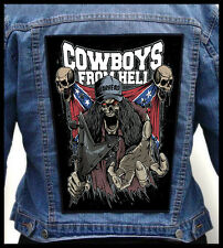 COWBOYS FROM HELL --- Giant Backpatch Back Patch / Dimebag Darrell Pantera Down