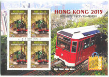 Australia-Trains-Trams min sheet fine used cto 2015-Hong Kong