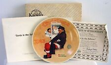 """""""Santa In The Subway""""~Knowles Ltd Ed~Norman Rockwell Collector Plate 1983~Euc"""