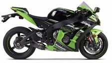 2016 Kawasaki Ninja ZX10R Two Brothers S1R Black Carbon Fiber Slip On Exhaust