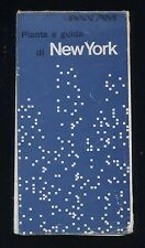 PAN AM airline vintage Manhattan New York MAP GUIDE 1971 Italian edition aa
